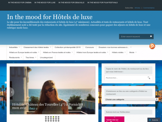 IN THE MOOD FOR HOTELS DE LUXE
